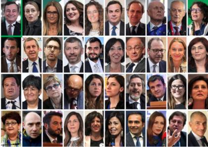 HANNO GIURATO I 39  VICEMINISTRI E SOTTOSEGRETARI DEL GOVERNO DRAGHI