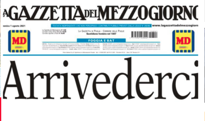 ECCO PERCHE' LA GAZZETTA DEL MEZZOGIORNO DA DOMANI NON ESCE NELLE EDICOLE DI PUGLIA E BASILICATA